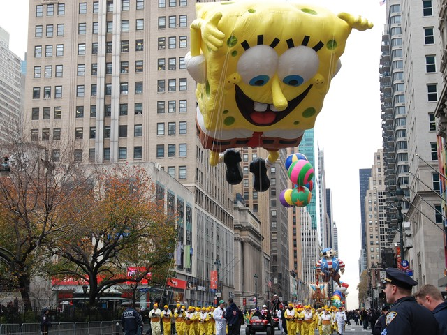 thanks giving day parade spongbob