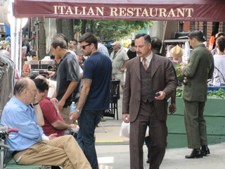 The shoot took place at John's Italian Restaurant on East 12th Street.