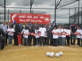 Mariano Rivera, John McEnroe and High School Ballplayers Open Randall's Island Sports Fields