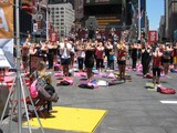 Times Square Yoga Session Welcomes the First Day of Summer