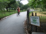 Cyclists Spar With Dog Walkers in Riverside Park