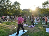 Free Outdoor Yoga Draws Enormous Crowd in Inwood Hill Park