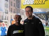 Subway Frontman Jared Trains in Central Park With NYC Marathon Winner