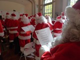 Santa Trainees Get Lessons in 'Ho Ho Hos' Before They Raise Money for the Needy