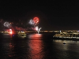 'Three Queens' Greeted With Fireworks at New York Harbor Reunion