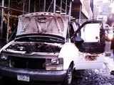 Van Catches Fire Near Lincoln Center