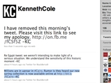 Kenneth Cole Eats Crow Over 'Insensitive' Egypt Tweet