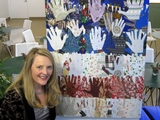 Downtown Artist Collects Fabric and Handprints for 9/11 Community Flag