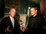 Matt Damon, Foursquare Awarded at Gracie Mansion