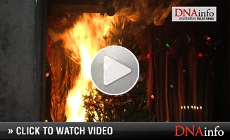 FDNY Sets Christmas Tree Ablaze in Fire Safety Demonstration