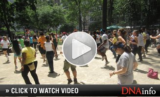 Zumba 'Flash Mob' Takes Over Madison Square Park