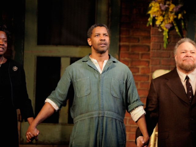 Oscar winner Denzel Washington returned to Broadway on Monday night for the ...