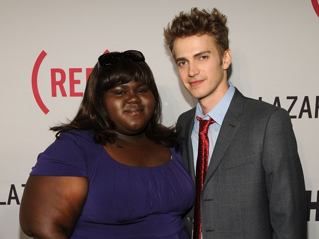 Actors Gabourey Sidibe and Hayden Christensen attended the premiere of HBO's