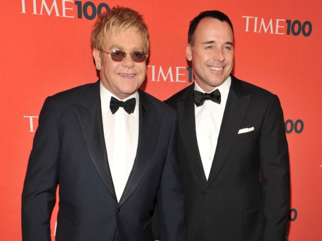 Musician/Sir Elton John and his partner David Furnish joined Glenn Beck and Sarah Palin on Tuesday at the Time's 100 Most Influential People gala.