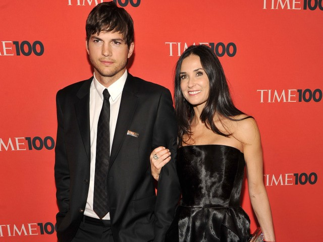 Actors Ashton Kutcher and Demi Moore attended Time's 100 Most Influential People gala on Tuesday, where Kutcher was recognized for his tremendous Twitter following.