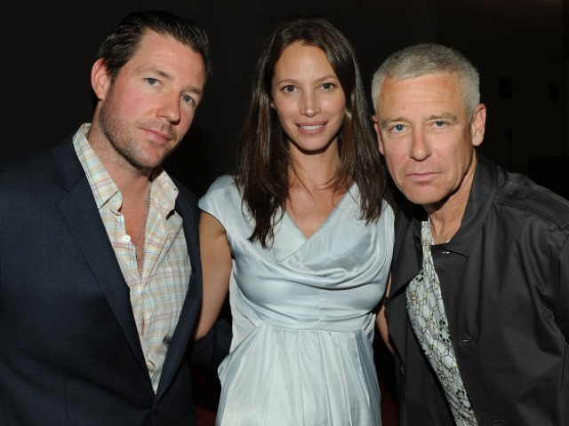 Actor Ed Burns and wife/actress Christy Turlington were joined by a significantly less beautiful attendee at the HBO Premiere of