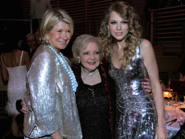Domestic guru Martha Stewart, golden girl Betty White and musician Taylor Swift posed for photographers at Time's 100 Most Influential People gala on Tuesday.