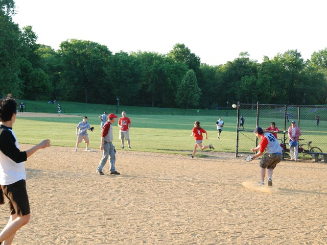 The New Yorker played Vanity Fair in softball in Central on Tuesday evening.
