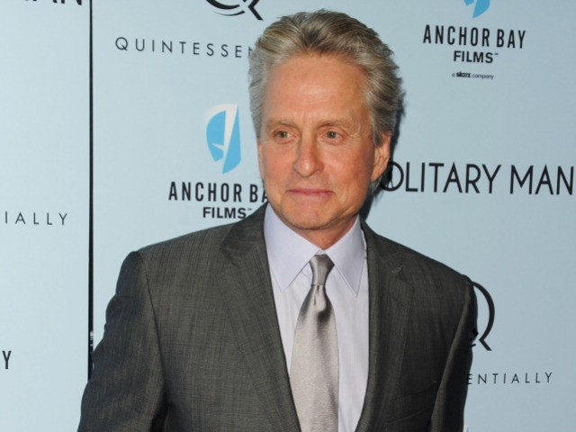 Actor Michael Douglas looked reserved at his the premiere of his new film ...