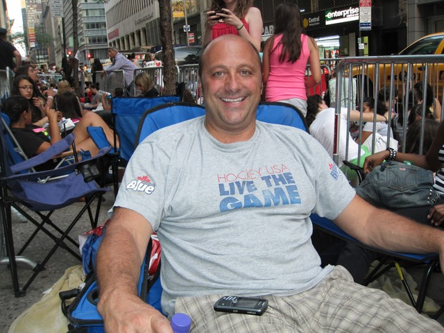 Joe Pezzino, 48, drove down from Buffalo with his 15-year-old daughter and her friends.