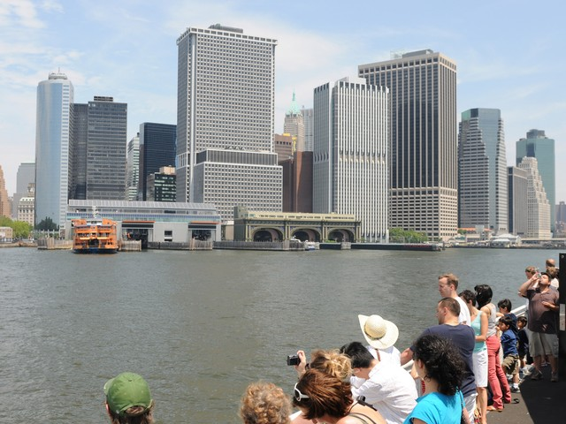 The ferry to Governors Island offers great views of lower Manhattan.