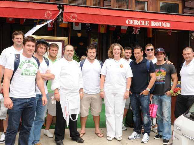 The French national rugby team with the head chef Pierre couldn't help the French win.