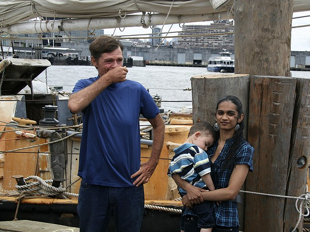 Reid is reunited with his wife, Soanya Ahmad, and meets his son, Darshen, for the first time.