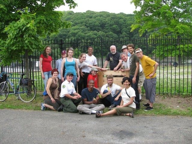 Members of the Inwood Hill Park Community Compost Initiative.