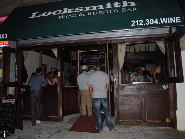 The crowd at Locksmith Thursday night was a mix of basketball and art fans.