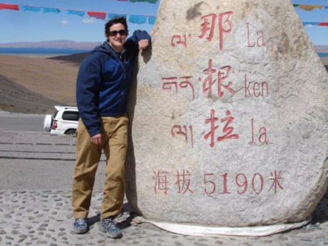 One of Thomas Wopat-Moreau's former Facebook profile pictures showed him at the La Ken La mountain pass in Tibet.