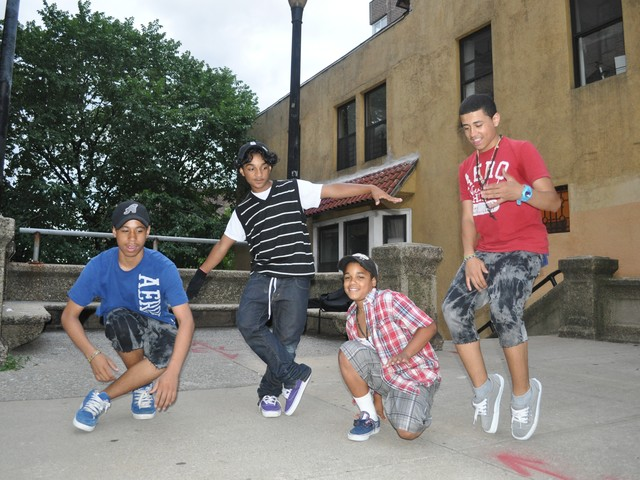 Four friends from Washington Heights and Inwood hope to win a poster contest featuring their version of the dance