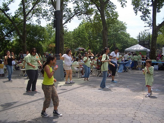 The Harlem Children's Zone organized a dance contest after the hike.