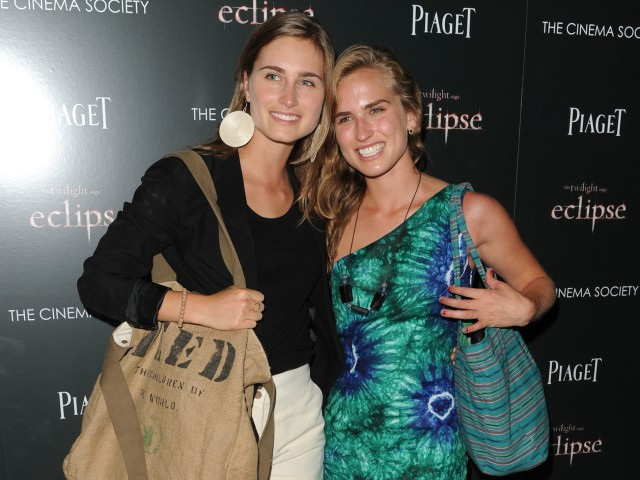 Lauren Bush, model and niece to George W. Bush, posed with a friend at