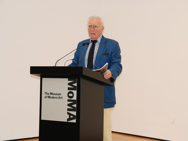 Henri Matisse's grandson, Claude Duthuit, speaking at MoMA on Tuesday about the museum's new exhibition,