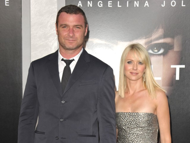 Married actors Naomi Watts and Liev Schreiber attend the premiere of