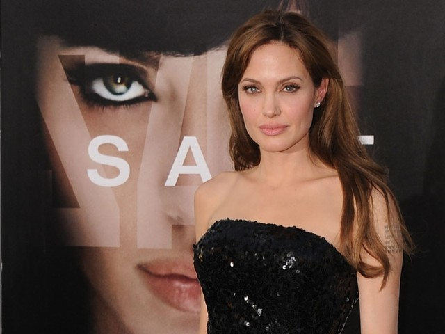 Actress Angelina Jolie arrives at the premiere of Sony Pictures' 'Salt' at Grauman's Chinese Theatre on July 19, 2010 in Hollywood, California.