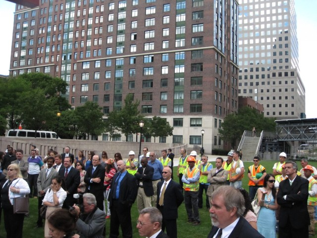 City and state officials, along with the workers who built the $9.4 million park, gathered for the official opening Thursday.