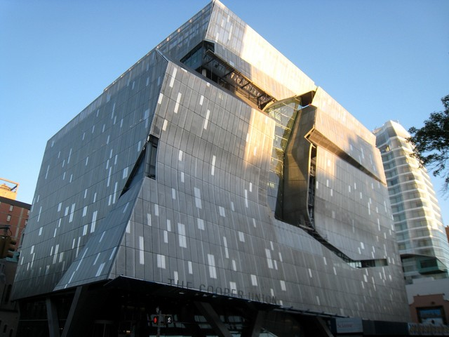 The Cooper Union's new academic building in the East Village.