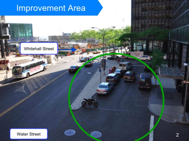 The city plans to close the right-turn fork at the end of Water Street and convert it into a pedestrian plaza.
