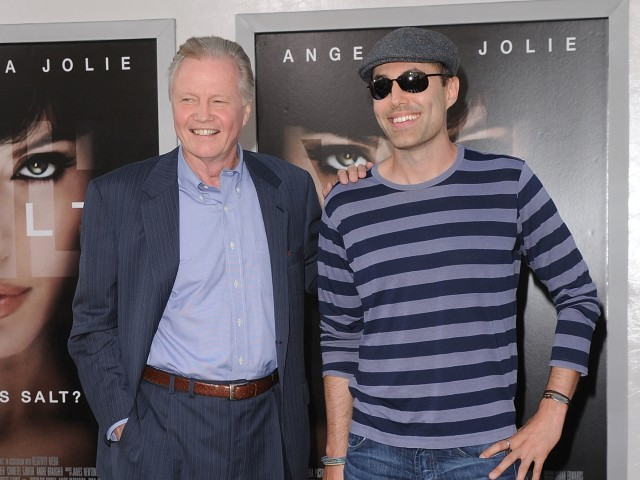 James Haven and Jon Voight, brother and father of Angelina Jolie, at the actress' Monday movie premiere.