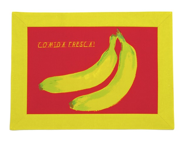 Samuelsson's colorful place mats retail for $4.99 each. In a nod to East Harlem's Spanish-speaking community, the designs celebrate