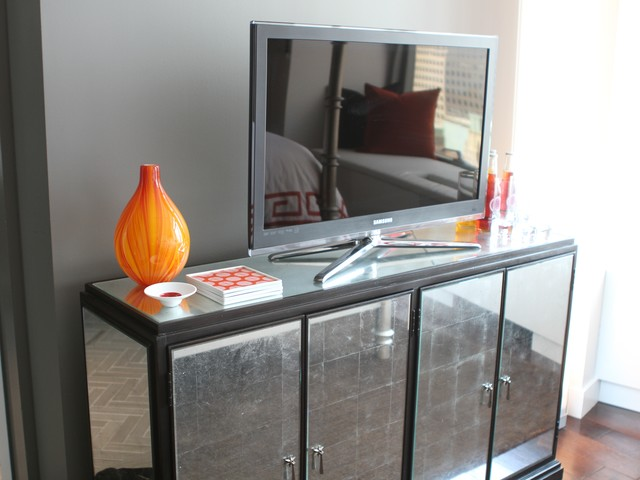 The apartment comes fully furnished, and includes antique pieces alongside a brand-new Samsung LED HDTV.