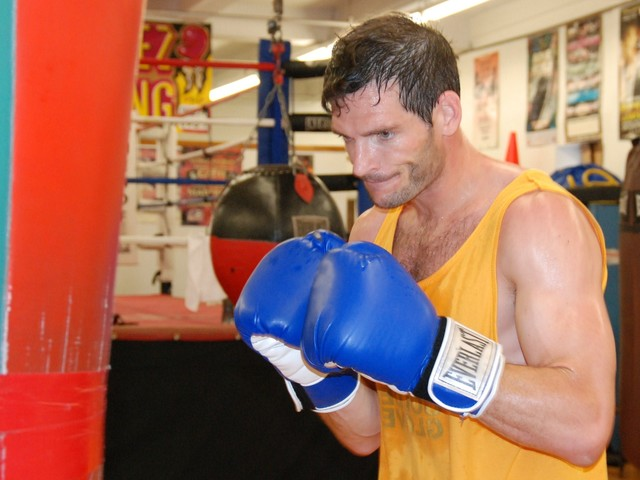 Mitch McMahon, 35, who has been boxing for almost a decade, trains at Mendez.