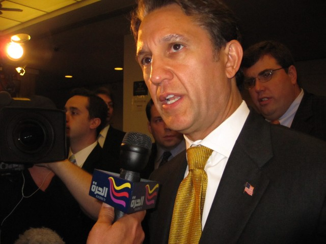 Republican gubernatorial candidate Rick Lazio vowed to continue fighting the mosque.