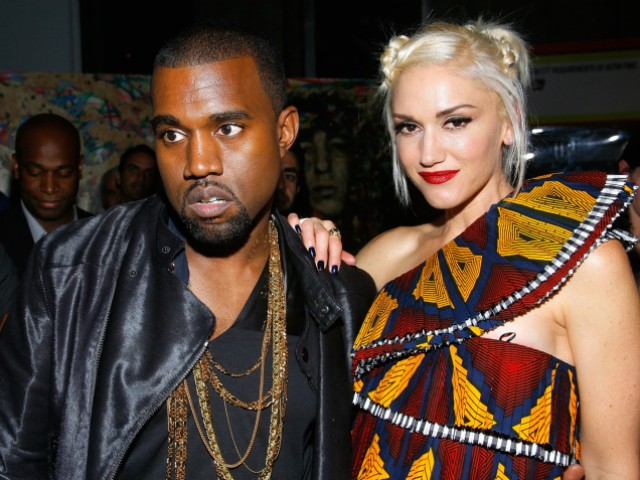 Musical artist Kanye West joined pop star Gwen Stefani at she debuted the Spring 2011 line of her fashion label L.A.M.B. at Mercedes-Benz Fashion Week on Thursday night.