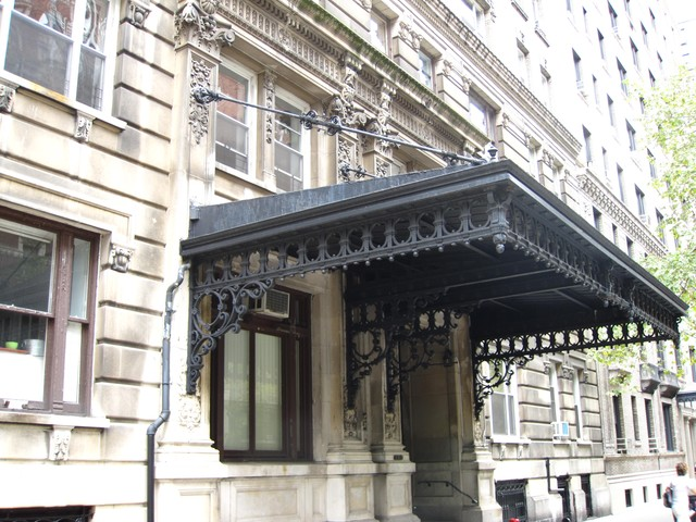 Ornate details are common on historic buildings along West End Avenue.