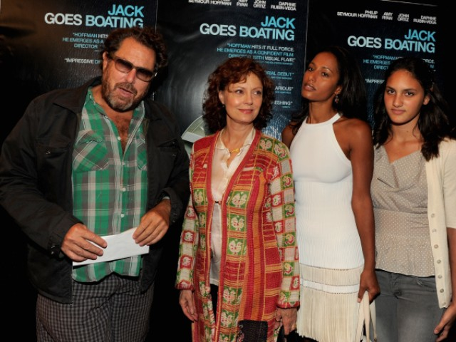 Artist Julian Schnabel and actress Susan Sarandon attended the