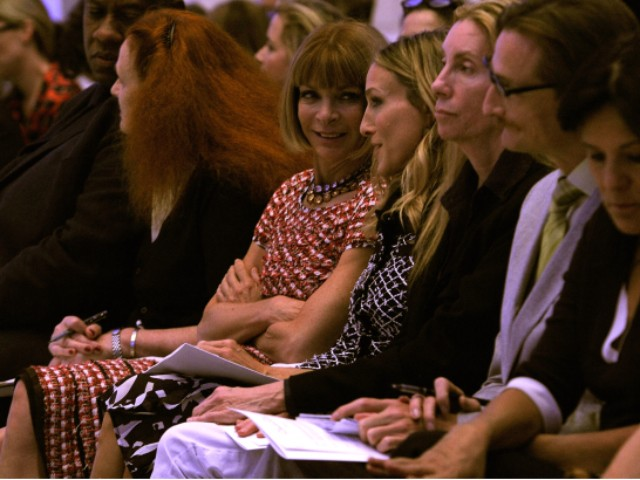 Infamous Vogue editor Anna Wintour and