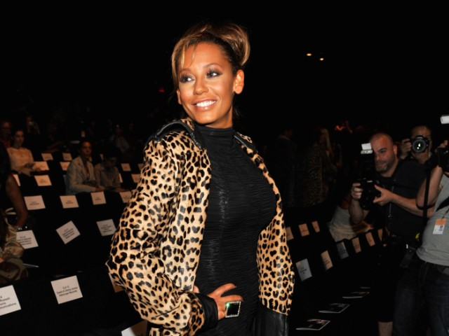 Singer Melanie Brown (a.k.a. Scary Spice) posed for photographers at the L.A.M.B. show during Mercedes-Benz Fashion Week.