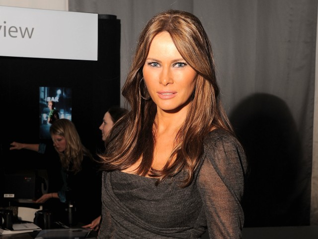Socialite Melania Trump posed on the final day of NYC Fashion Week Thursday.